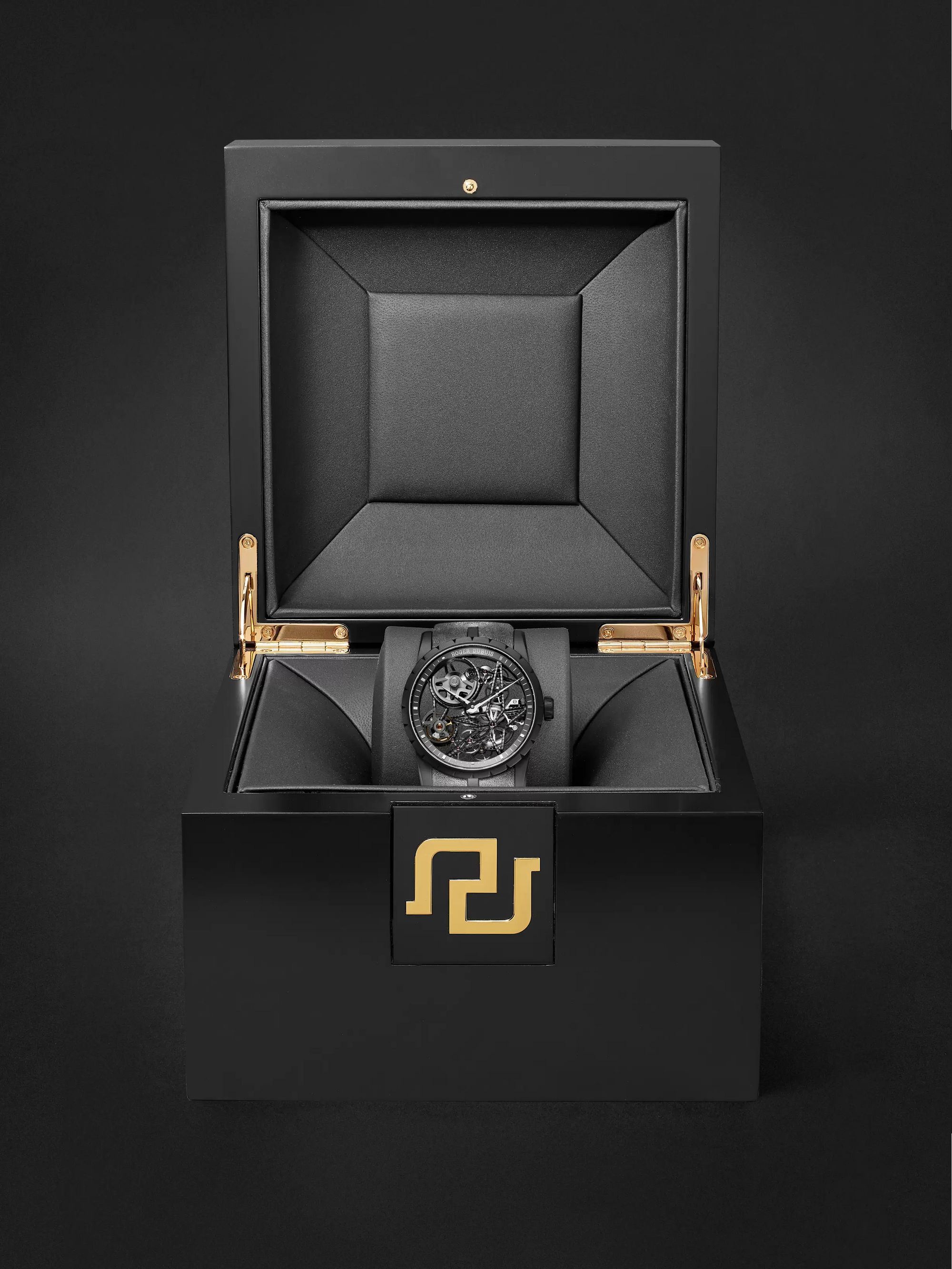 Roger Dubuis Excalibur Automatic Skeleton 42mm Titanium and Leather Watch, Ref. No. DBEX0726