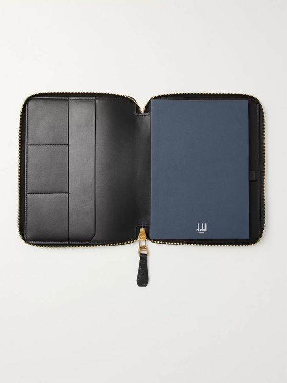 DUNHILL Duke A5 Zip-Around Leather Notebook Cover