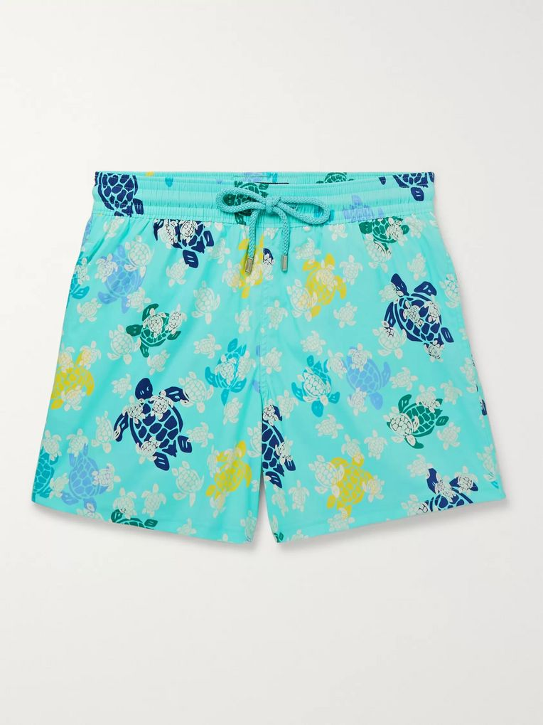 Vilebrequin Moorise Slim-Fit Mid-Length Glow-In-The-Dark Printed Swim Shorts