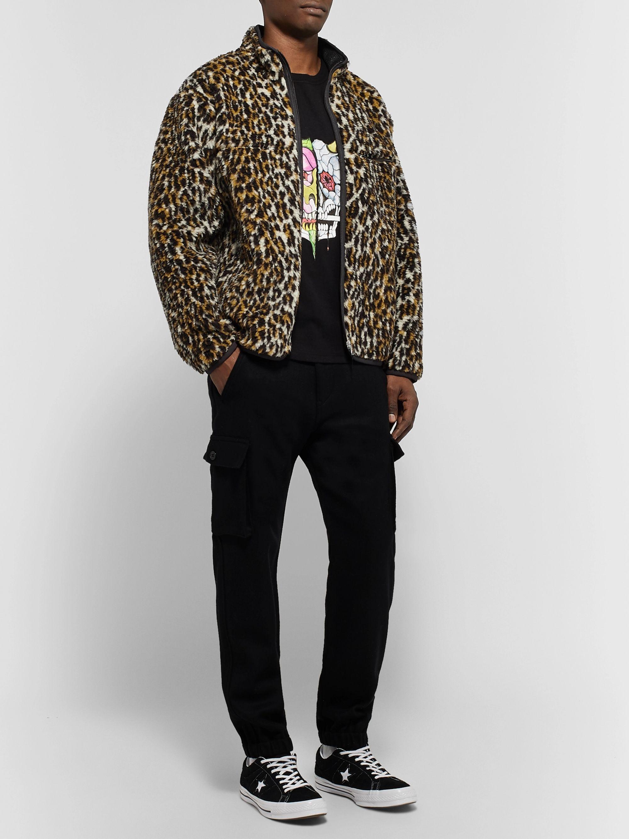 Leopard print Leopard Print Fleece Jacket | Wacko Maria | MR