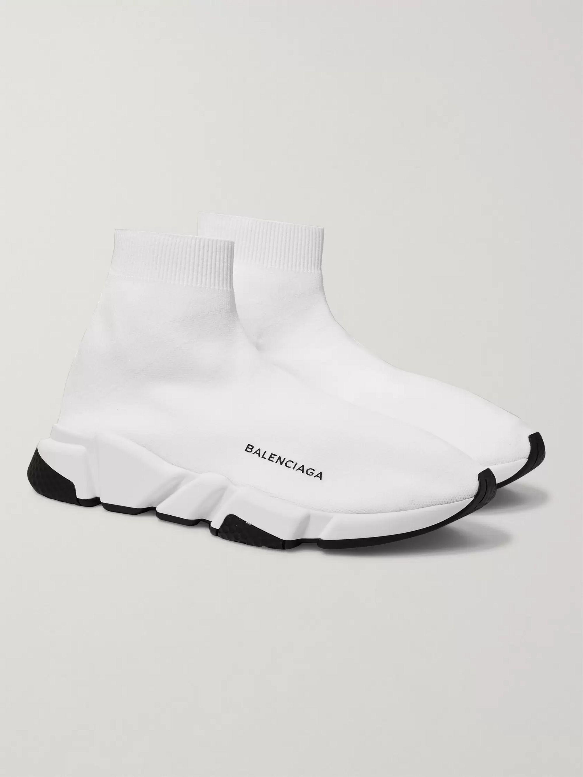 balenciaga sock shoes all white Shop