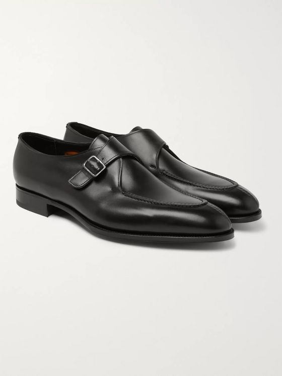 Edward Green Clapham Leather Monk-Strap Shoes