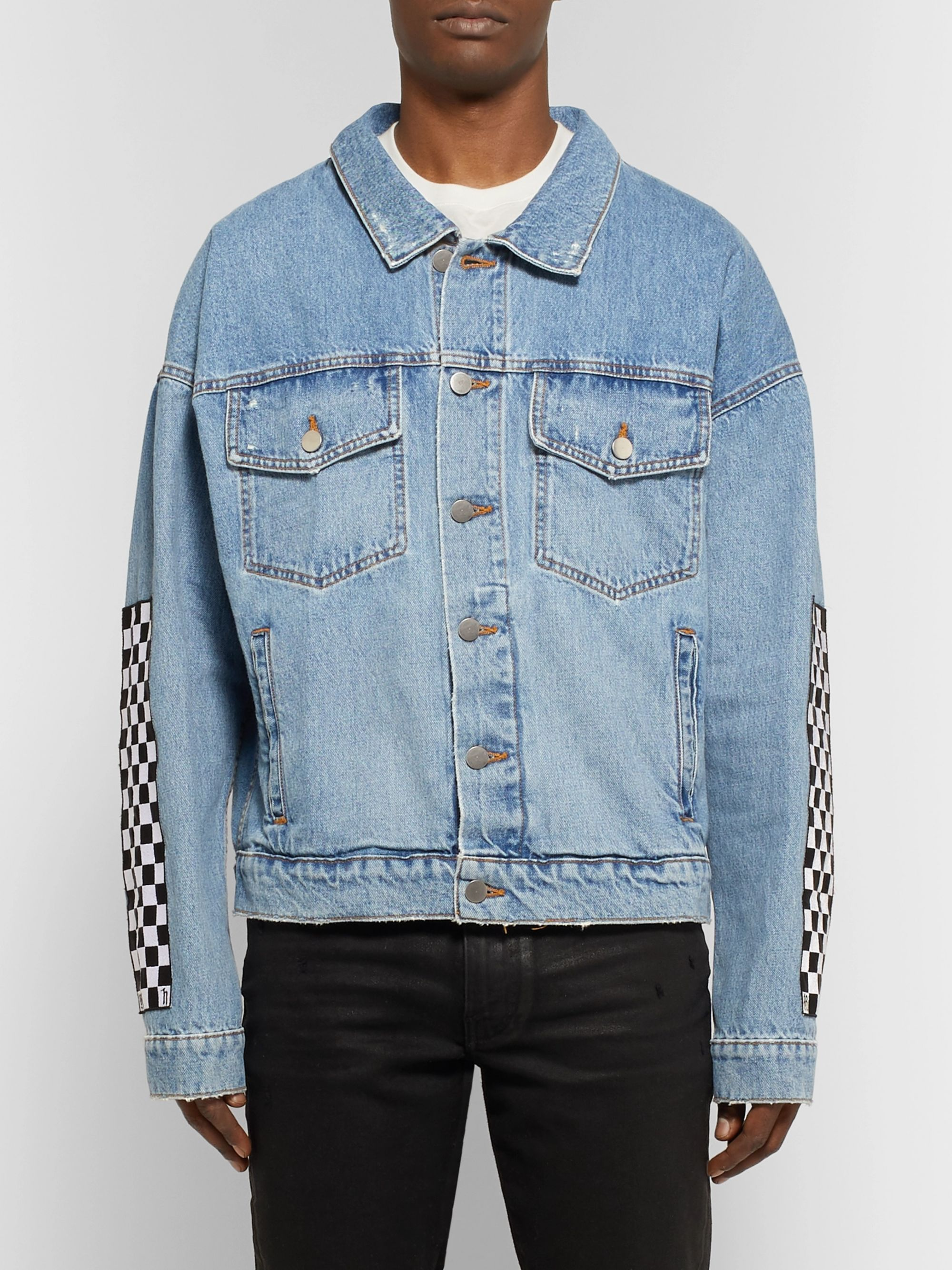 Rhude + Levi's Appliquéd Denim Trucker Jacket