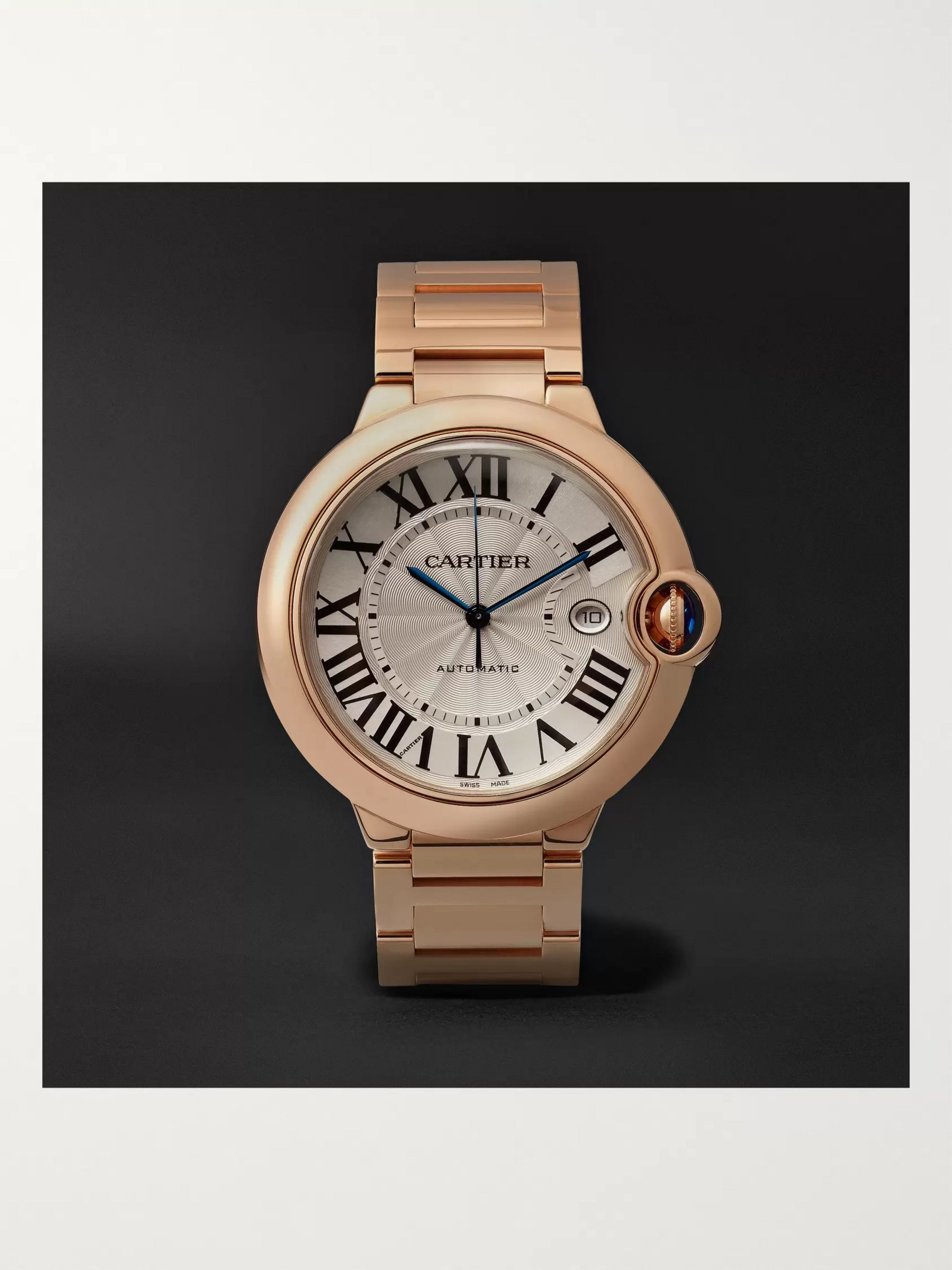 Cartier Ballon Bleu Automatic 42mm 18-Karat Pink Gold Watch