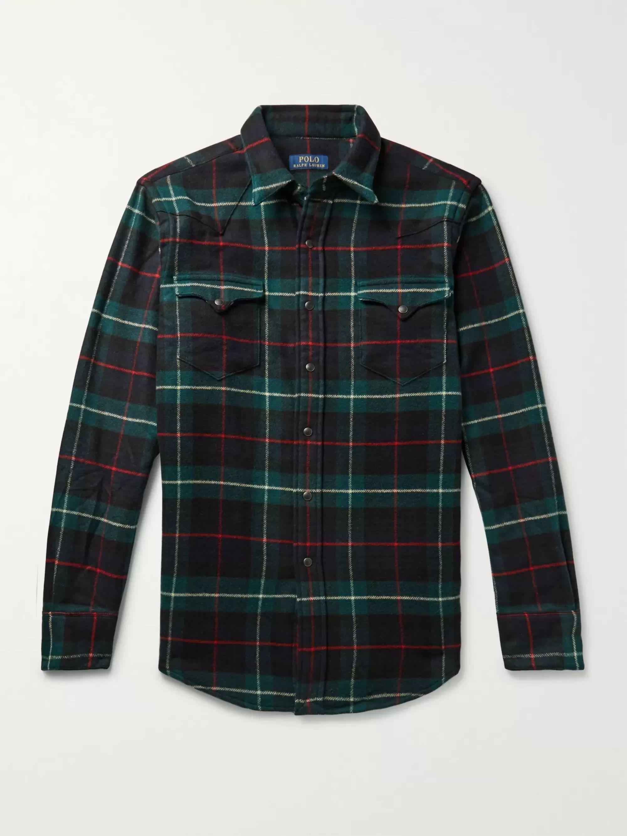 NWT Men/'s POLO RALPH LAUREN Fashion Red Plaid Cotton Twill Sport Casual Shirt