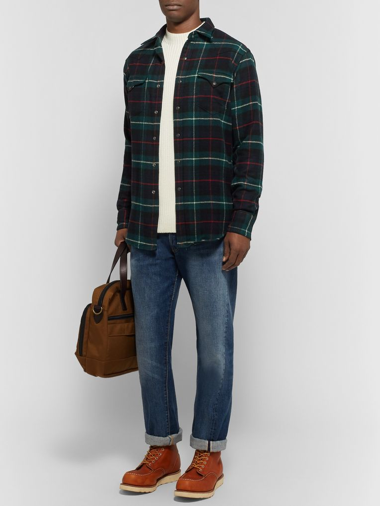 Polo Ralph Lauren Checked Wool-Flannel Overshirt