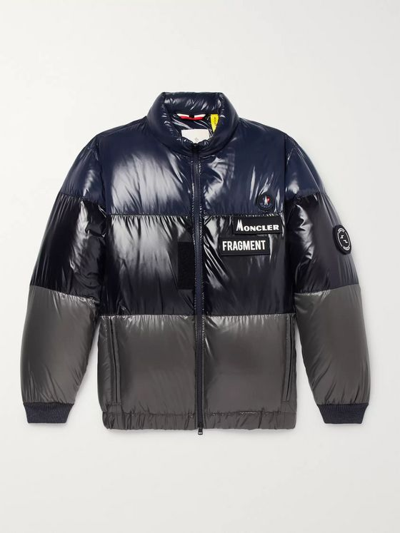 Moncler Genius 7 Moncler Fragment Wondar Colour-Block Quilted Shell Down Jacket