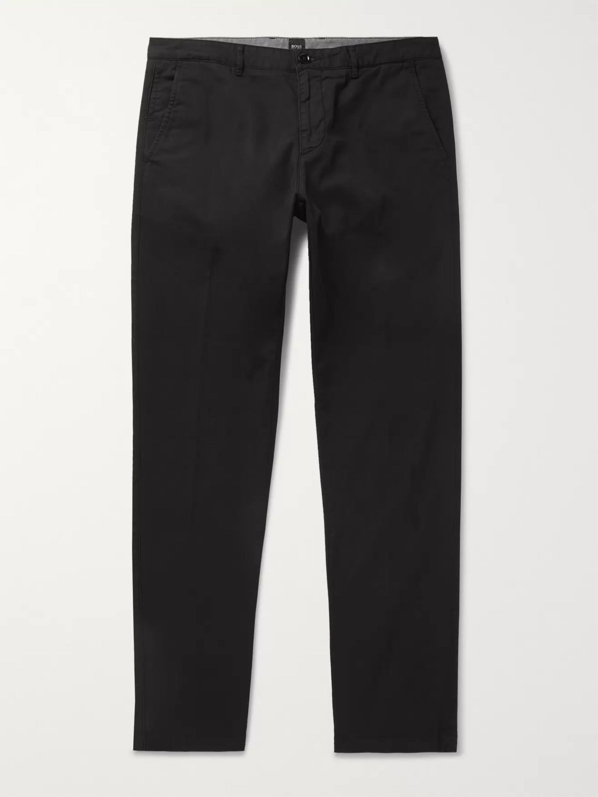 Hugo Boss Navy Crigan Slim-Fit Stretch-Cotton Twill Chinos