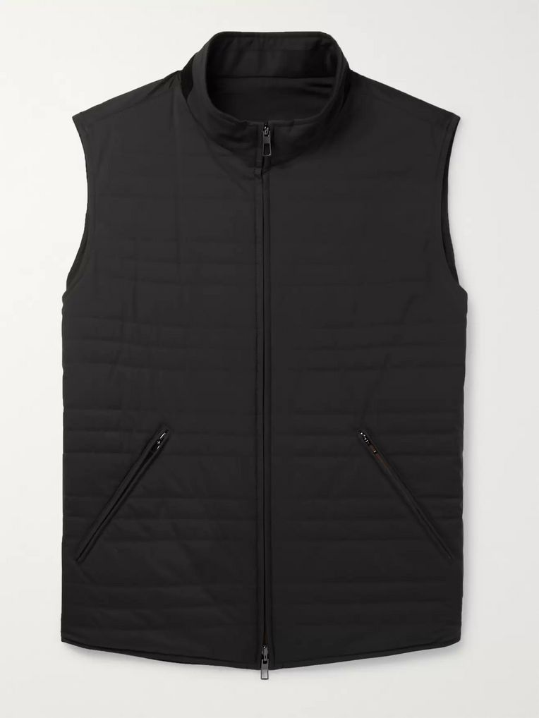 Loro Piana Reversible Quilted Storm System Shell and Virgin Wool-Blend Gilet
