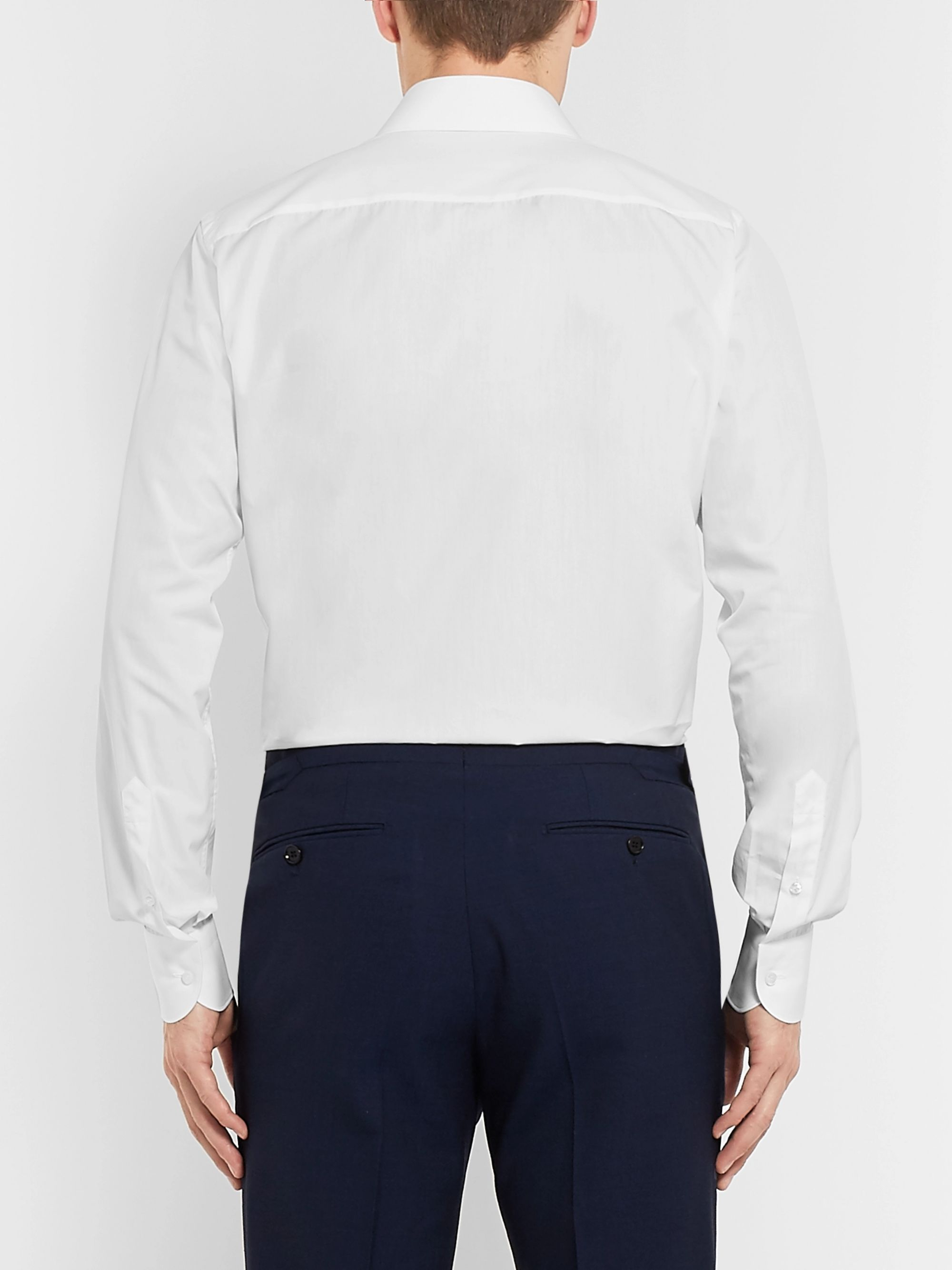 Brioni White Cotton-Poplin Shirt