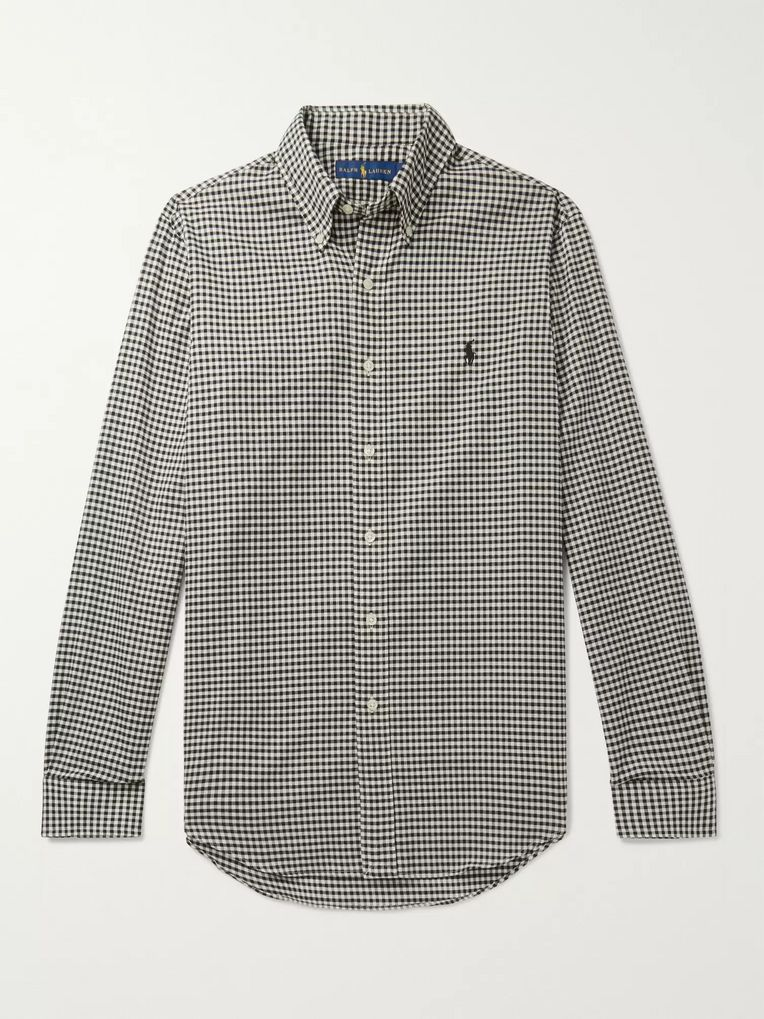 Polo Ralph Lauren Button-Down Collar Gingham Brushed-Cotton Shirt