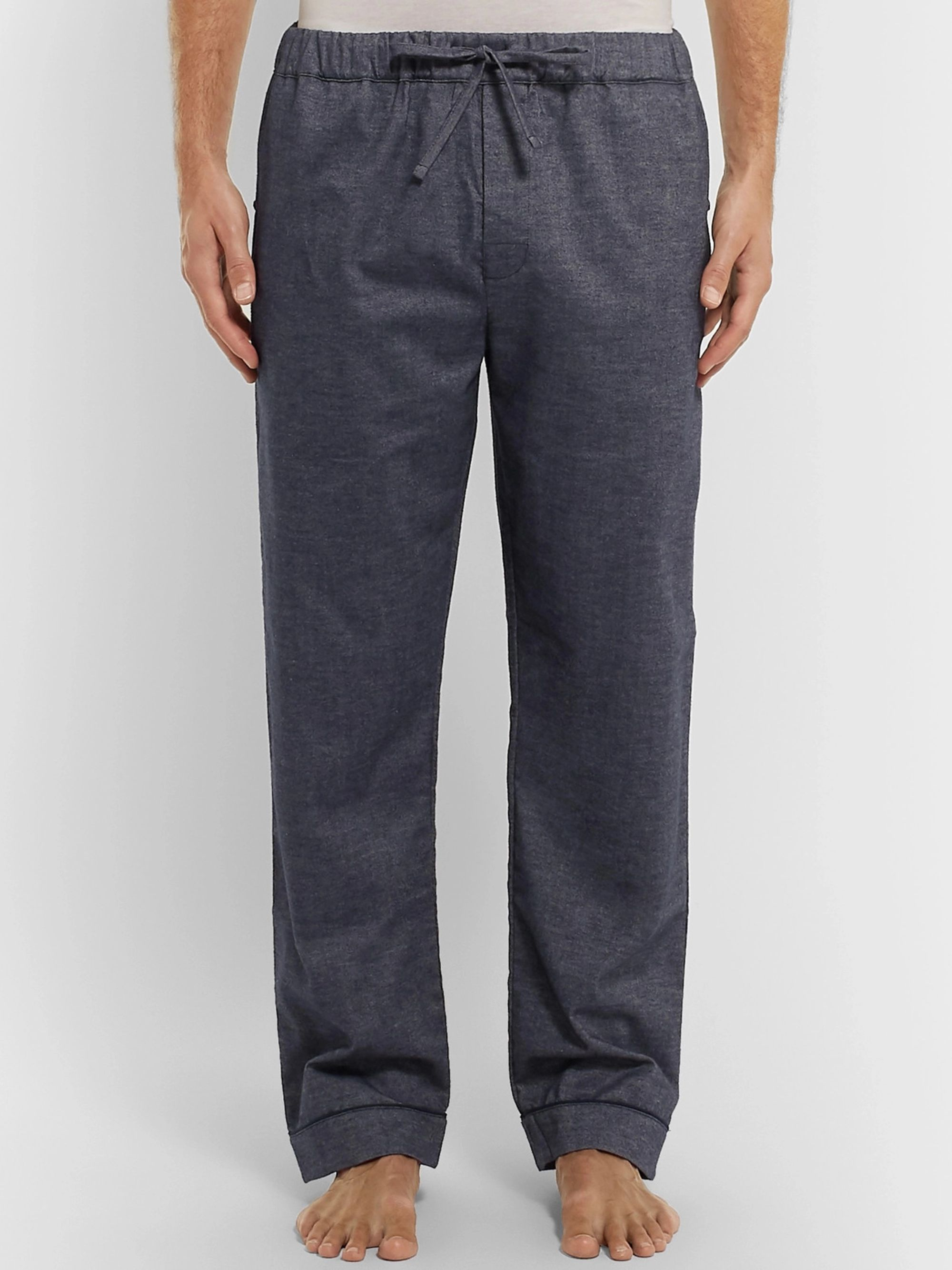 DESMOND & DEMPSEY Brushed Cotton-Twill Pyjama Trousers