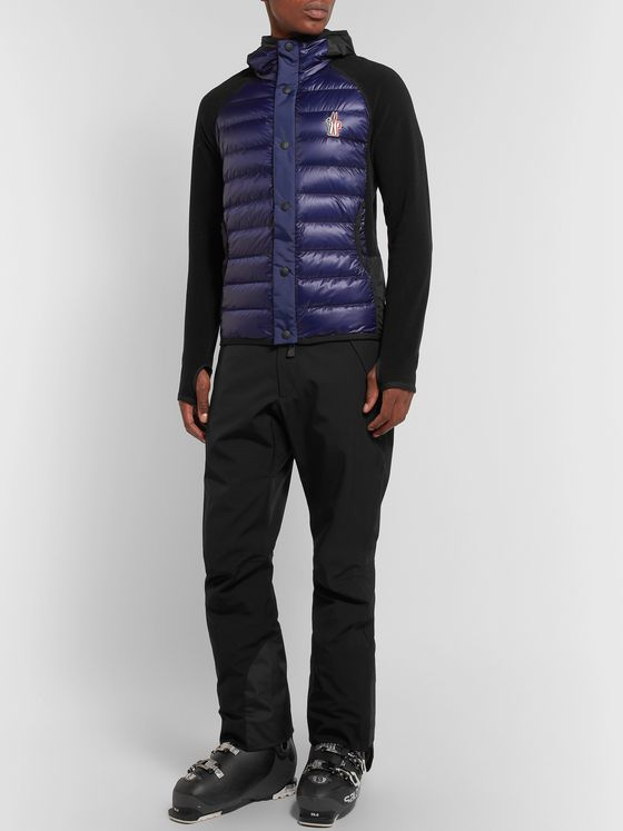 Moncler Grenoble Shell-Panelled Fleece Hooded Ski Jacket