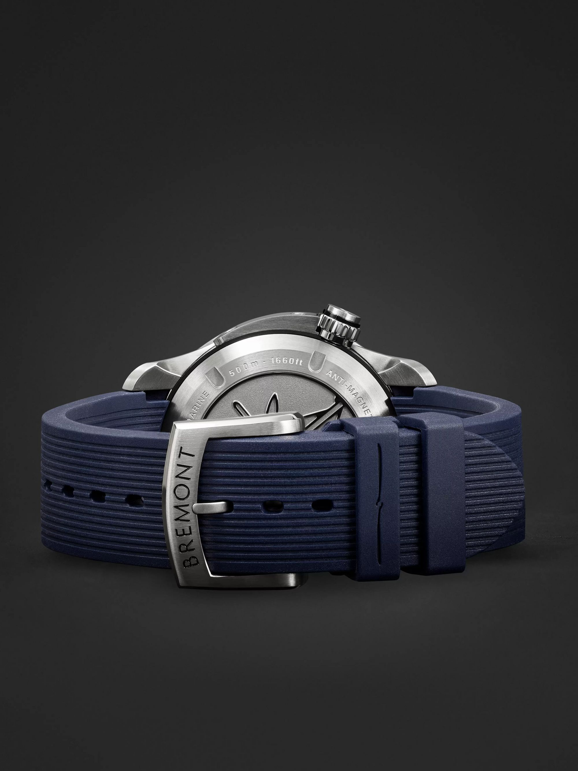 BREMONT Supermarine S500 Blue Automatic 43mm Stainless Steel and Rubber Watch, Ref. S500-BL-2018-R-S