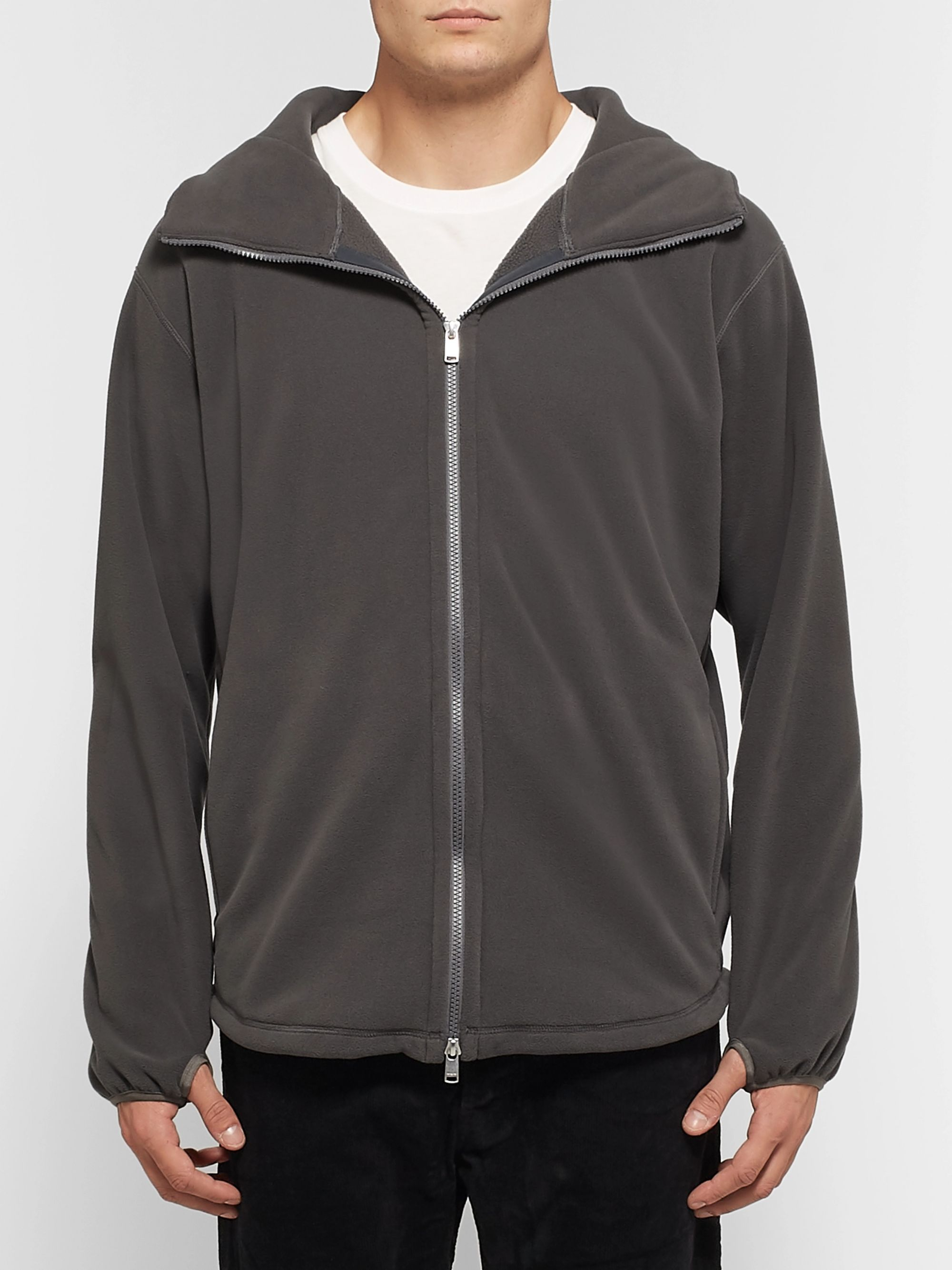 nonnative Cyclist Polartec Fleece Zip-Up Hoodie