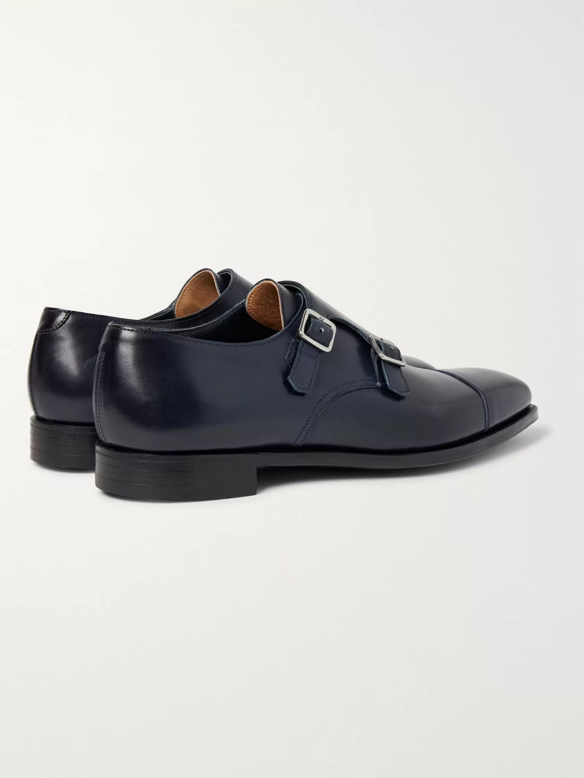 George Cleverley Thomas Cap-Toe Leather Monk-Strap Shoes