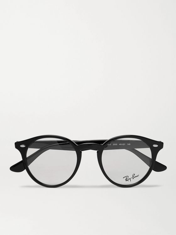 Ray-Ban Round-Frame Acetate Optical Glasses