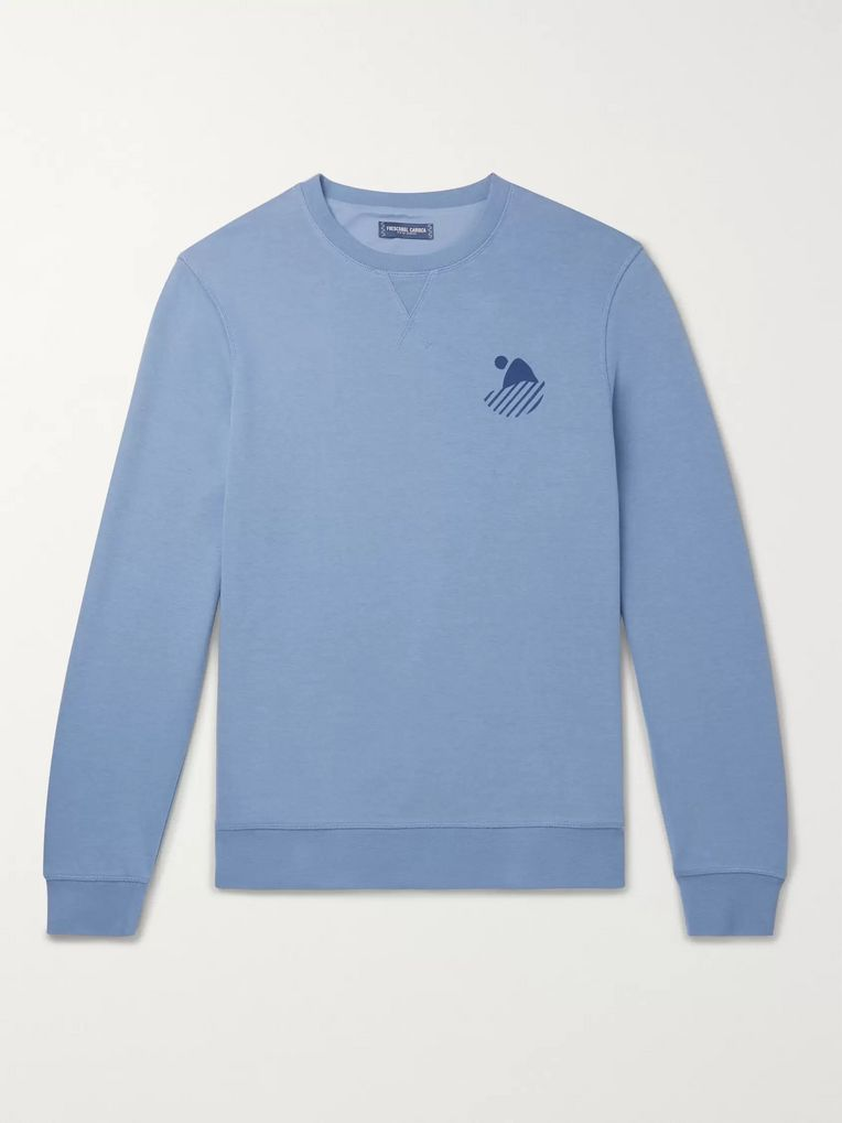Frescobol Carioca Carioca Surf Club Printed Cotton-Blend Jersey Sweatshirt
