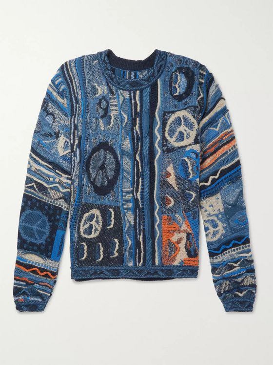 KAPITAL Cotton-Blend Jacquard Sweater