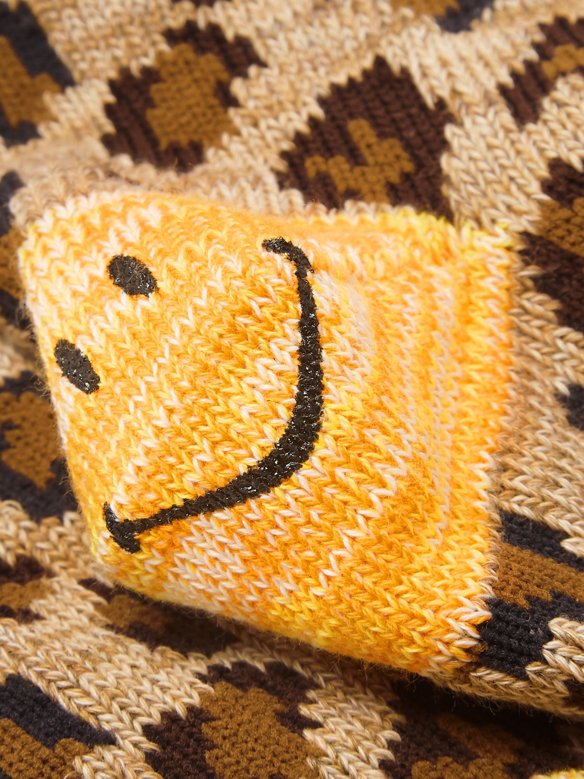 KAPITAL Smiley Leopard-Jacquard Cotton-Blend Socks