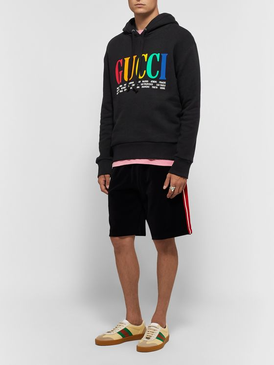Gucci Logo-Printed Loopback Cotton-Jersey Hoodie
