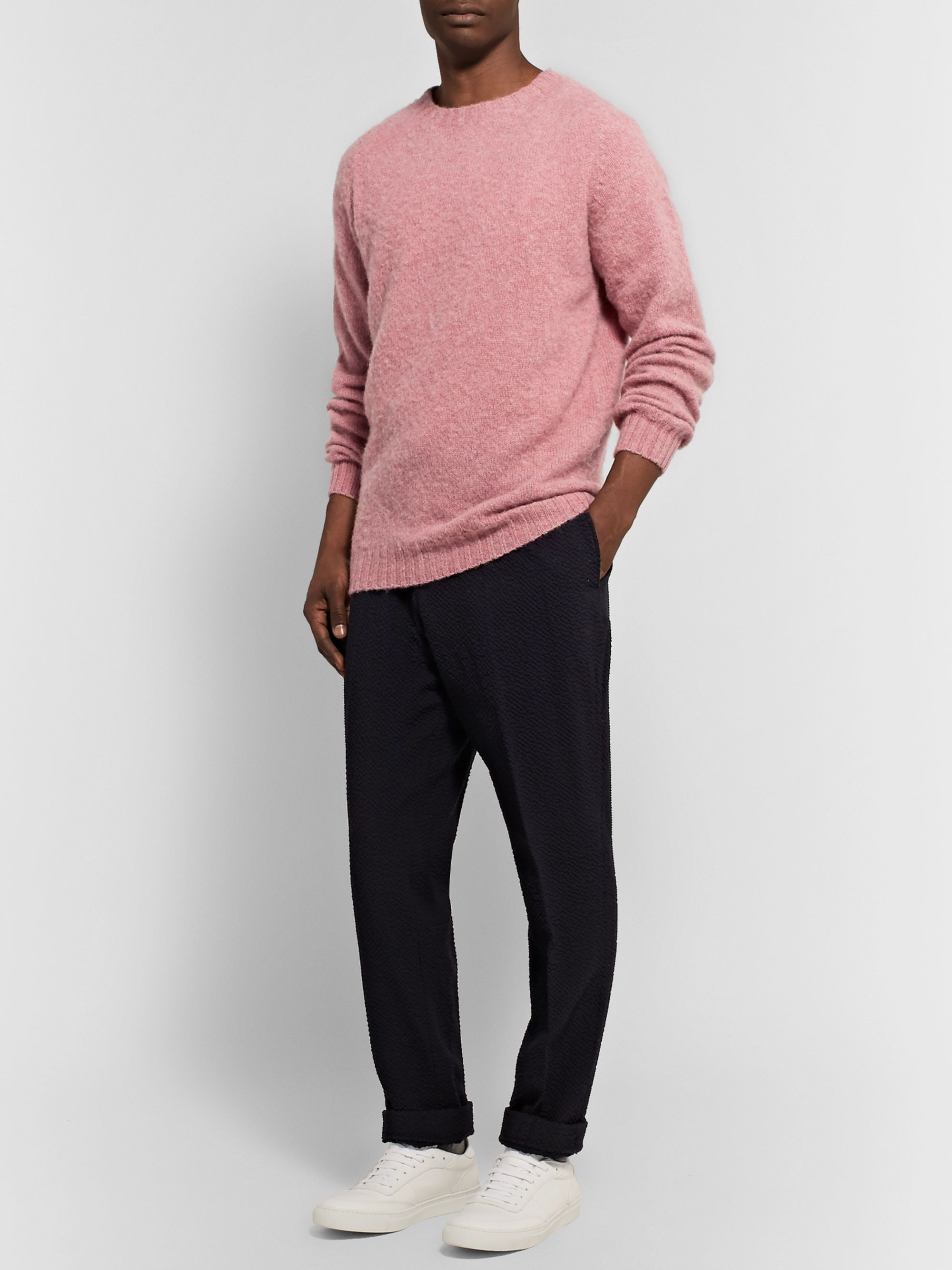 Officine Generale Shetland Wool Sweater