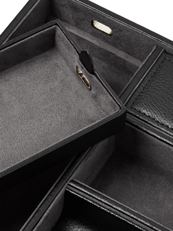 WOLF Blake Full-Grain Leather Valet Tray