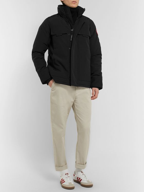 Canada Goose Forester Canvas-Panelled Arctic Tech Down Jacket