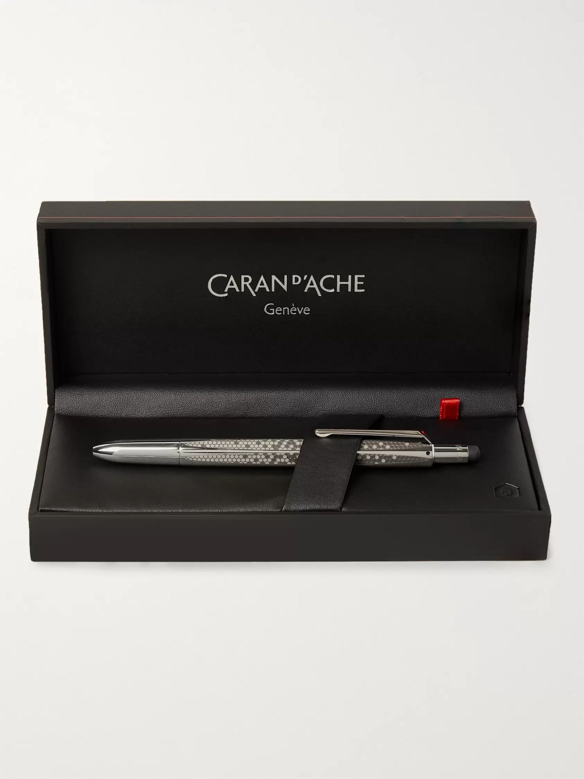 Caran d'Ache Madison Stainless Steel and Rhodium-Plated Ballpoint Pen