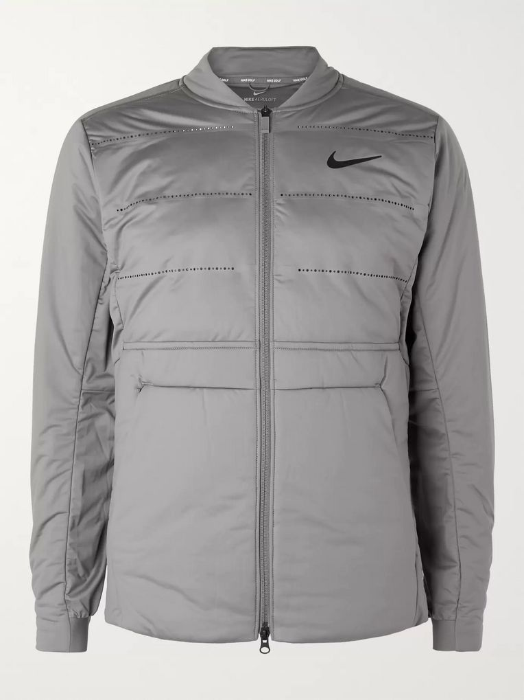 Nike Golf AeroLoft Perforated Quilted Jersey Golf Jacket