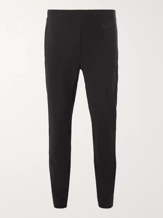 CASTORE Swinton Mesh-Trimmed Bonded Stretch-Jersey Sweatpants