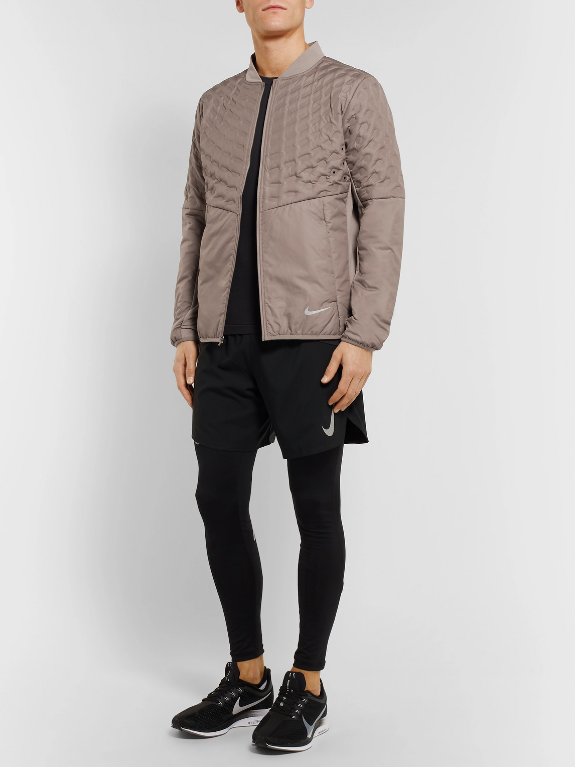 Nike Jackets AEROLOFT PERFORATED QUILTED SHELL JACKET