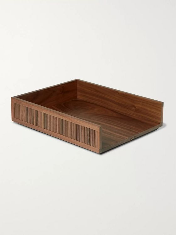 Linley Tambour Walnut Desk Tray