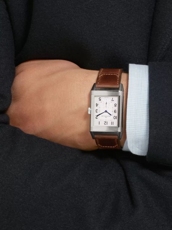 Jaeger-LeCoultre Reverso Classic Large Duoface Hand-Wound 28mm Stainless Steel and Leather Watch