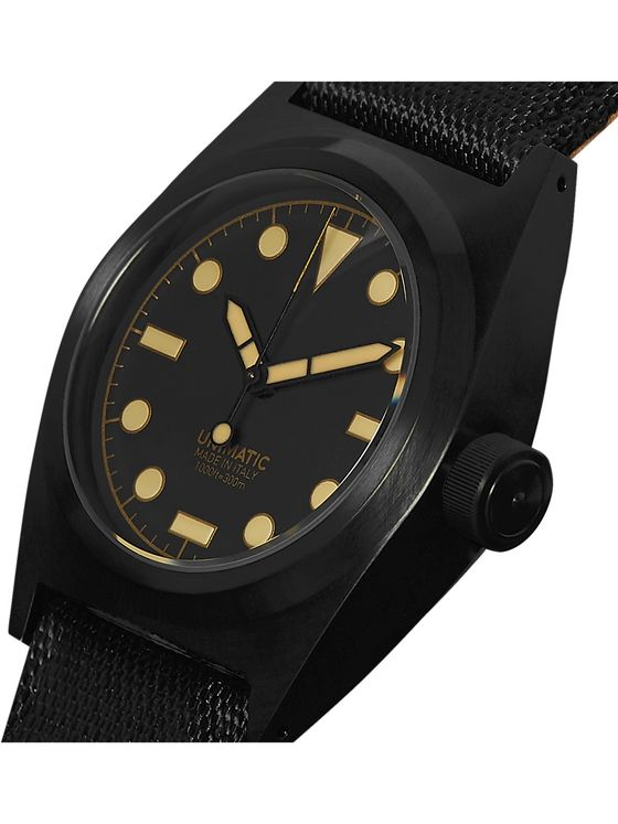 UNIMATIC U2-CN DLC-Coated Stainless Steel and CORDURA Watch