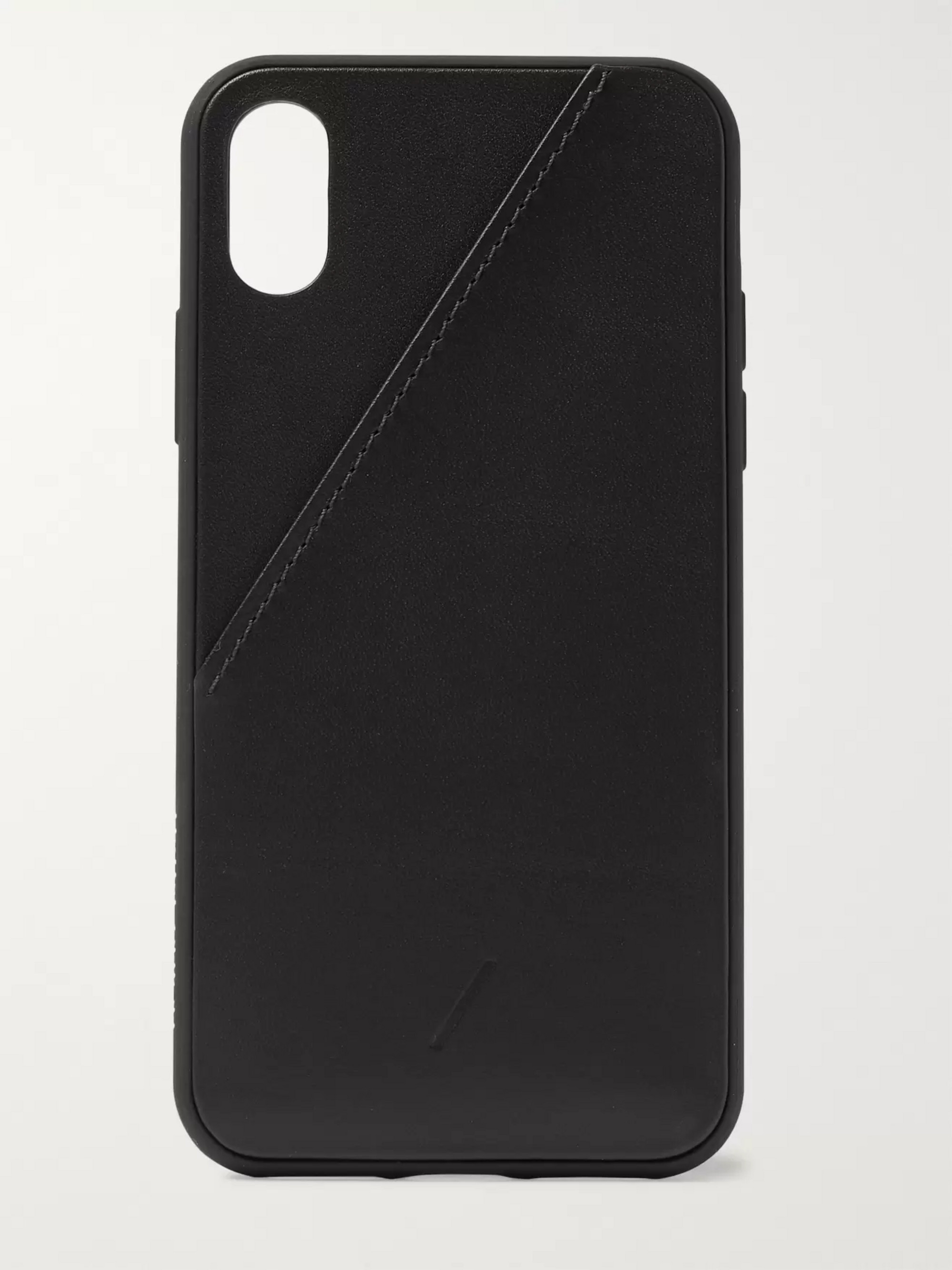 Native Union Clic Card Leather iPhone X and XS Case
