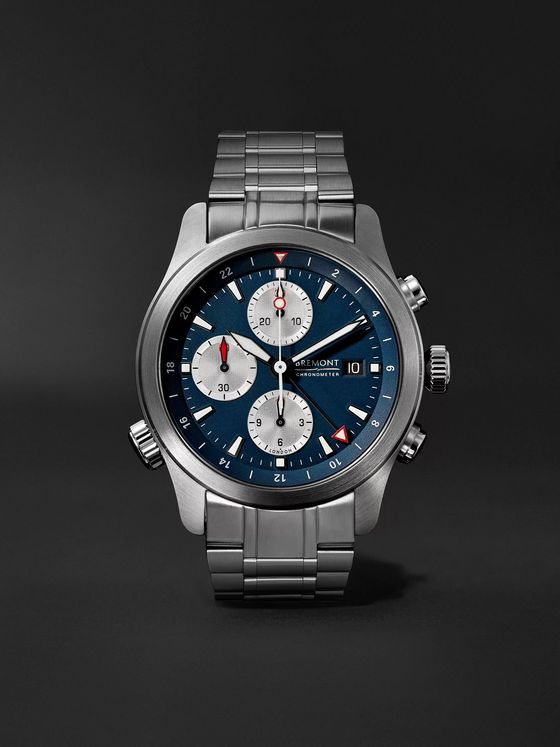 BREMONT ALT1-ZT Blue Limited Edition Automatic GMT Chronograph 43mm Stainless Steel Watch, Ref. No. ALT1-ZT-BL-B