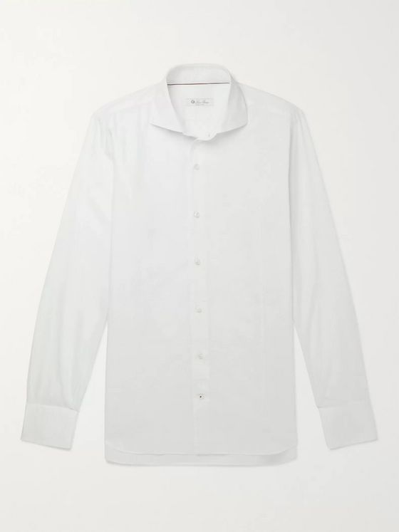 LORO PIANA Albert Slim-Fit Cotton and Cashmere-Blend Shirt