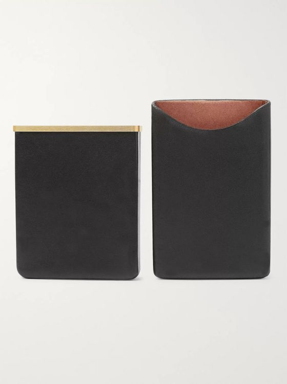 THE ROW Leather and Gold-Tone Cardholder