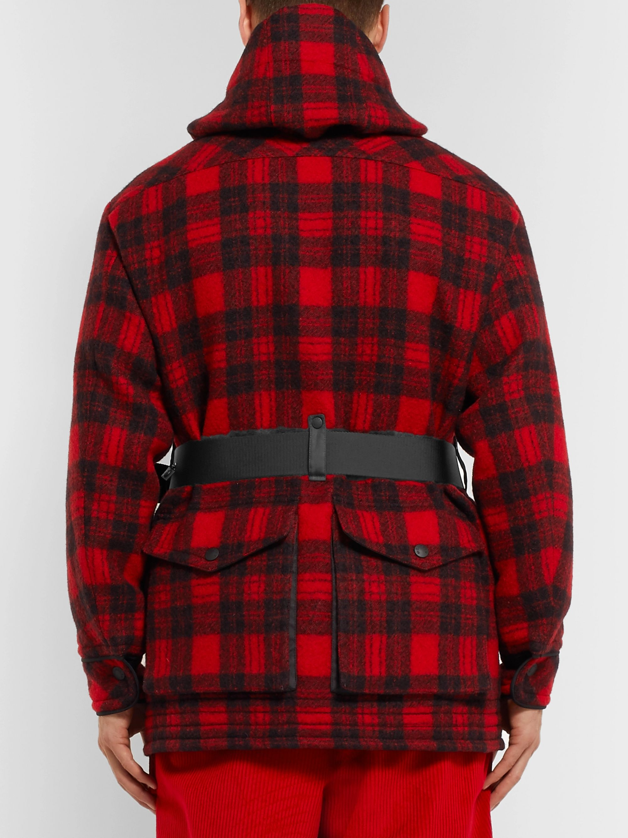 52bd6c441 3 Moncler Grenoble Stowe Checked Virgin Wool Hooded Down Ski Jacket