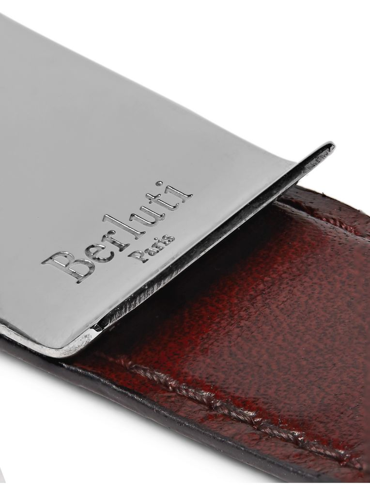 Berluti Leather and Silver-Tone Money Clip