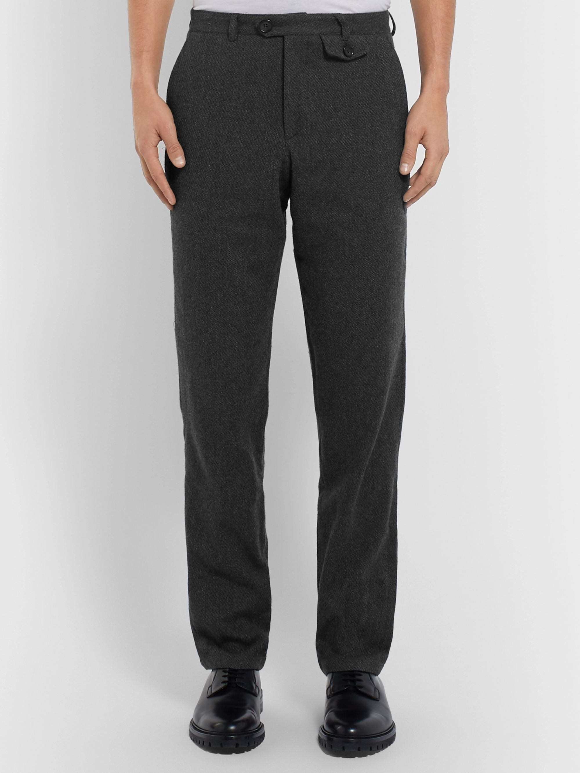 Oliver Spencer Fishtail Cotton and Wool-Blend Trousers
