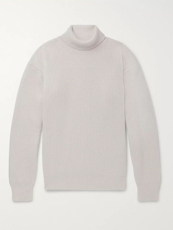 Bottega Veneta Ribbed Cashmere Rollneck Sweater