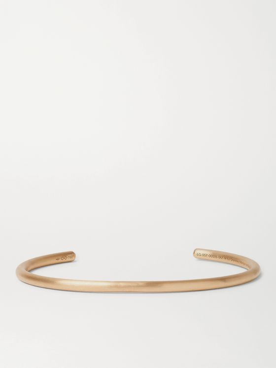 Le Gramme Le 17 Brushed 18-Karat Gold Cuff