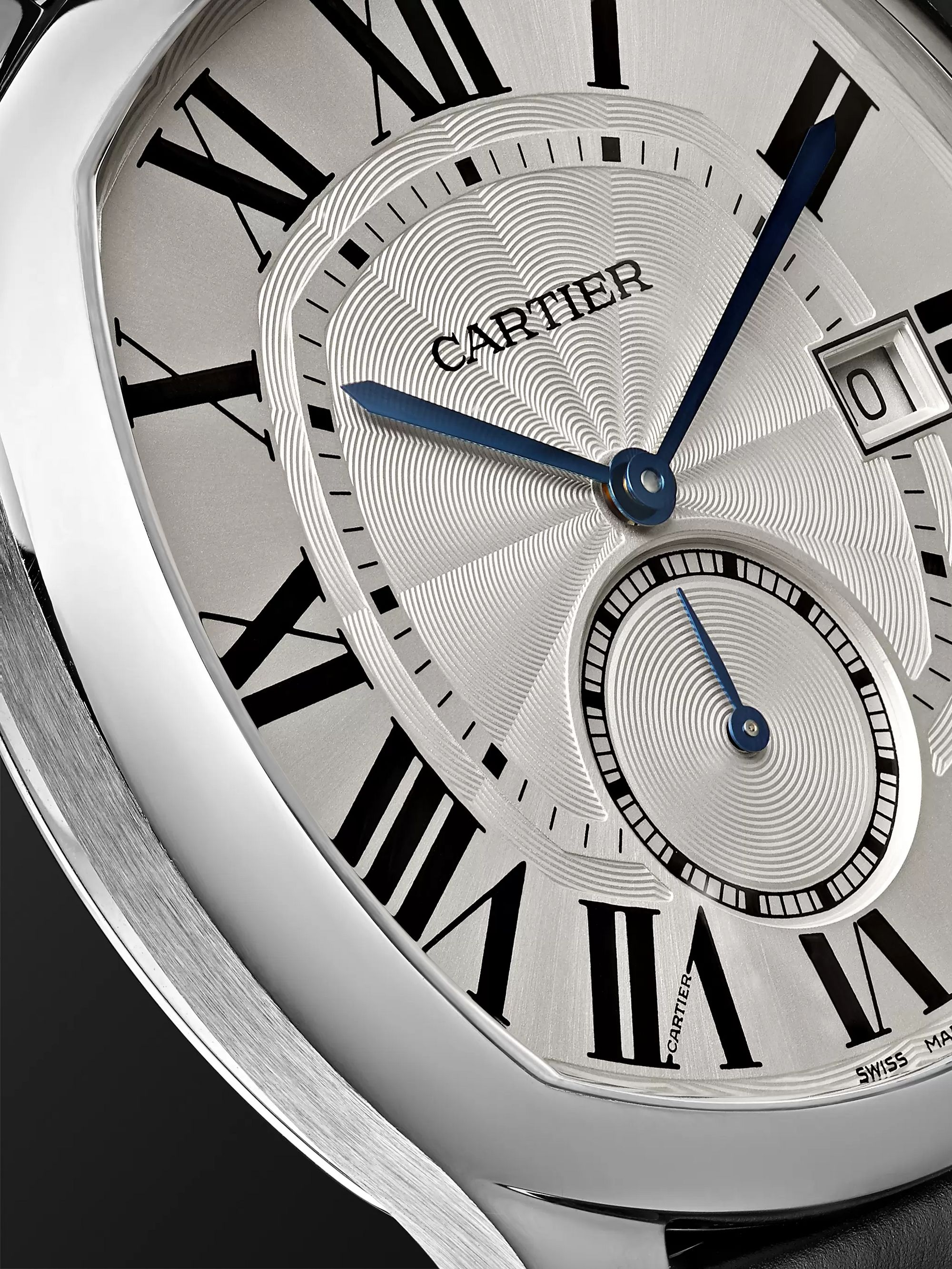 Cartier Drive de Cartier Automatic 41mm Steel and Alligator Watch, Ref. No. CRWSNM0004