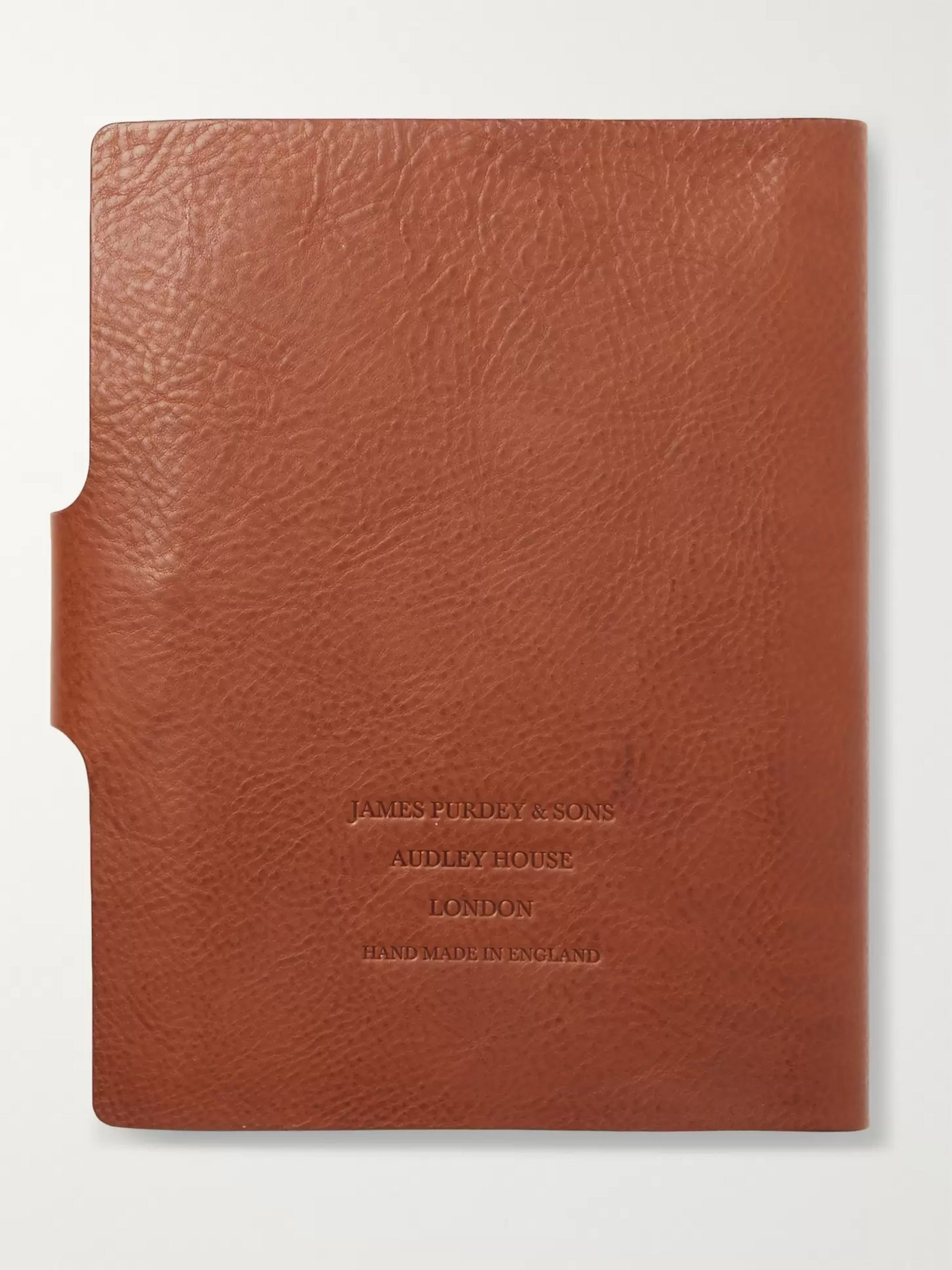 Purdey Full-Grain Leather-Bound Notebook
