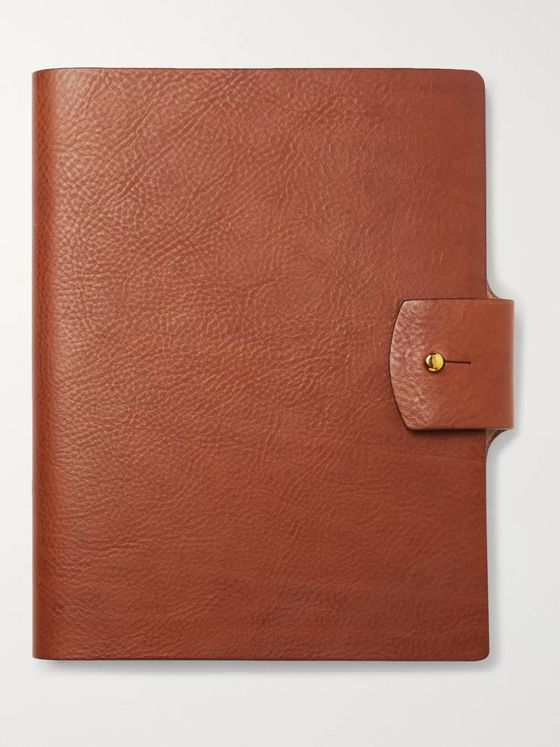 James Purdey & Sons Full-Grain Leather-Bound Notebook