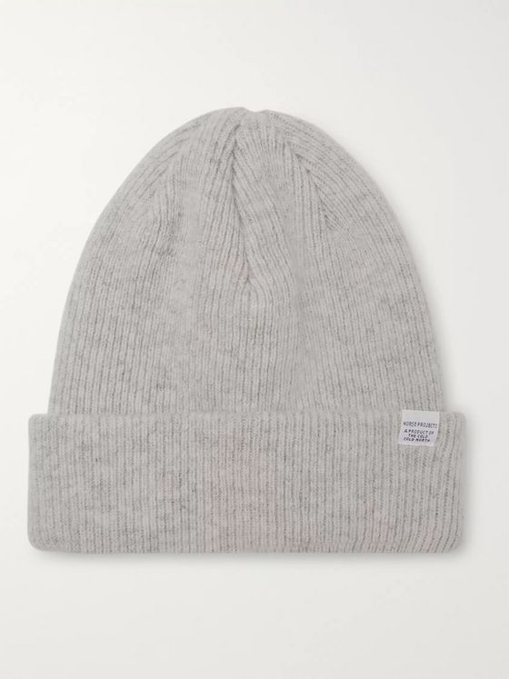 Norse Projects Ribbed Mélange Merino Wool Beanie