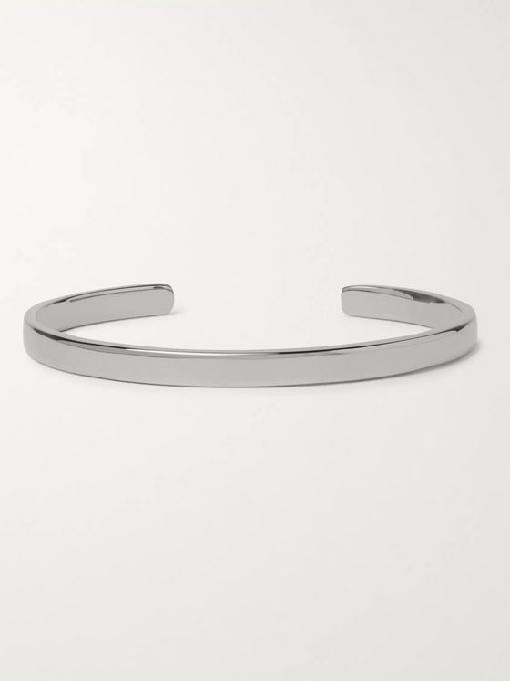 Miansai Singular Polished Rhodium-Plated Sterling Silver Cuff