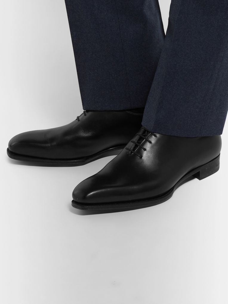 Kingsman + George Cleverley Merlin Whole-Cut Leather Oxford Shoes